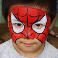 Gallery For gt Spiderman Face Painting Designs